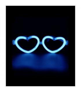 Lunettes lumineuses en forme de coeur Bleu