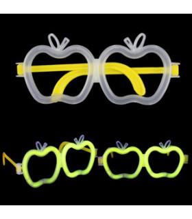 Lunettes lumineuses en forme de pomme Jaune