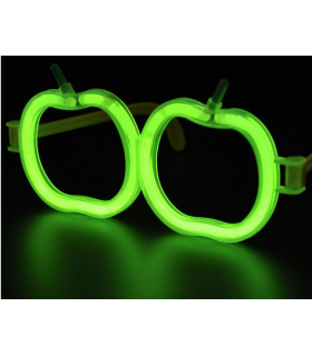 Lunettes lumineuses en forme de pomme Vert