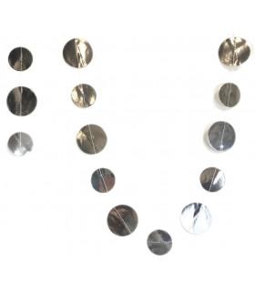 Guirlande Papier multiple Rond argent métallisé 2.5M