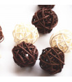 Boule en rotin deco table Chocolat lot de 5pcs