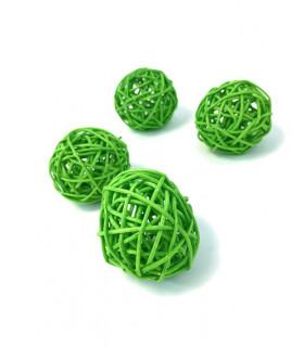 Boule en rotin deco table Vert pomme 5 pcs