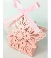 Bonbonnières Flocon de neige Rose 10pcs