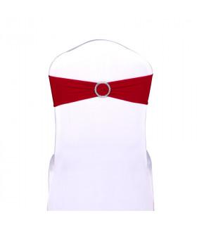 noeud de chaise rouge stretch avec boucle strass 5pcs