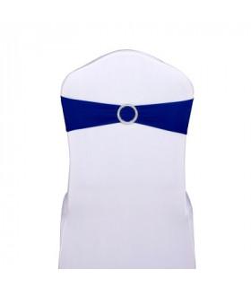 noeud de chaise bleu saphir stretch avec boucle strass 5pcs