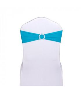 noeud de chaise bleu azur stretch avec boucle strass 5pcs
