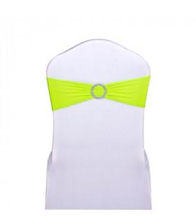noeud de chaise vert lime stretch avec boucle strass 5pcs