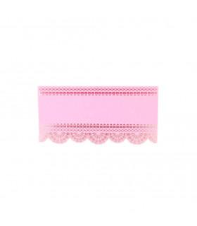 Marque place table de fête dentelle Rose bonbon 20pcs