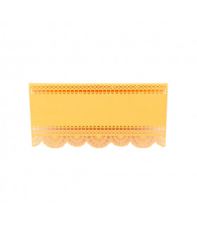 Marque place table de fête dentelle Orange 20pcs