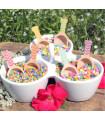 Mini pelle à bonbon motif chevrons candybar Jaune