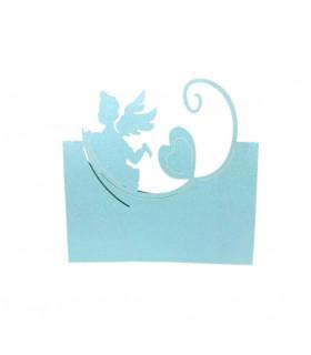 Marque place Bapteme Anniversaire Ange Bleu-ciel 20pcs