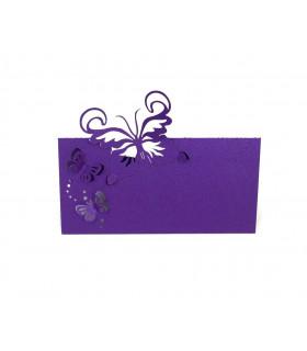 Marque Place table modèle papillon relief Violet 20 pcs