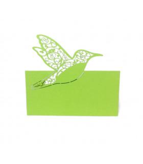 Marque Place table de fête colombe Vert Pomme 20 pcs