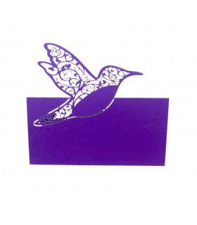 Marque Place table de fête colombe Violet 20 pcs