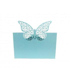 Marque place table de fête Grand Papillon 20pcs Bleu Ciel