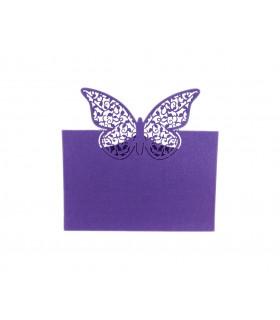 Marque place table de fête Grand Papillon 20pcs Violet