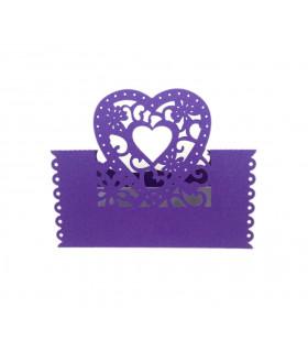 Marque Place table de fête modèle coeur Violet 20pcs