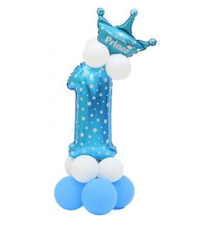 Kit Ballon Anniversaire Chiffre 1 garcon Bleu