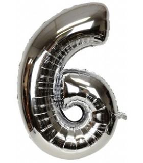 Blallon géant aluminium chiffre 6 Argenté