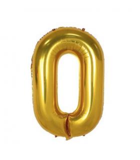 Ballon géant aluminium chiffre 0 Doré