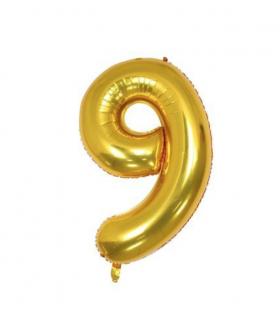 Ballon géant aluminium chiffre 9 Doré