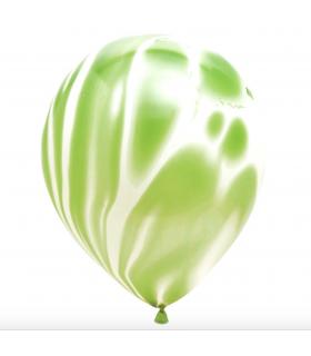 Ballons marbrés 30cm Vert pomme 12pcs