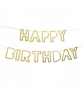Guirlande Happy Birthday Pailleté 1,50m