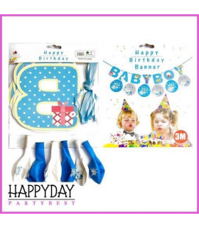 Banderole Baby Boy Bleu 3M