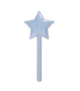 12 Contenants dragées sucette en forme étoile bleu
