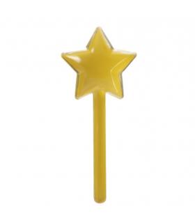 12 Contenants dragées sucette en forme étoile jaune