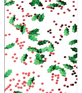 Confettis table de noël Houx