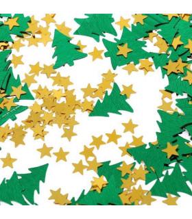 Confettis de table Sapin de noël et Etoile