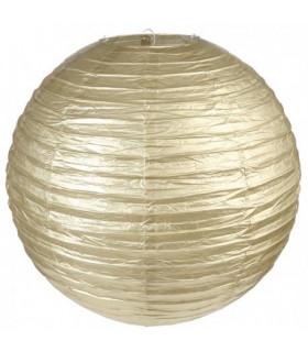 Lanterne en papier chinois boule deco Or