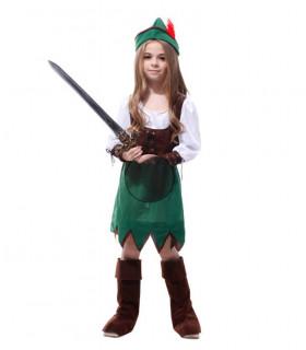 Déguisement enfant Robin des Bois Fille Vert