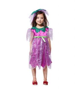 Déguisement enfant Elfe Fée Fille Violet