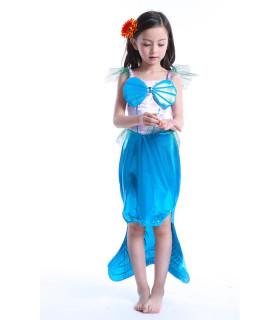 Déguisement enfant Petite Sirène Fille Bleu