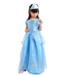 Déguisement enfant Princesse Fille Bleu