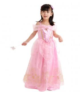 Déguisement enfant Princesse Fille Rose