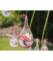 Contenant dragées suspension décorative en forme de goutte d'eau Translucide 5 pcs