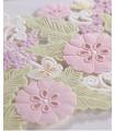 Faire-part mariage Florale Blanc,Rose,Vert 10 pcs