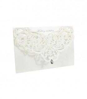 Faire-part mariage Diamant et Chic Blanc 10 pcs