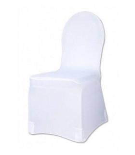 Housse de chaise Intégrale Luxe Blanc