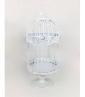 Grande Cage oiseau décoration table,salle en métal Blanc