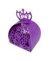 Contenant dragées couronne baptême, mariage Violet 10 pcs