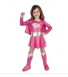 Déguisement enfant superGirl Fille Rose