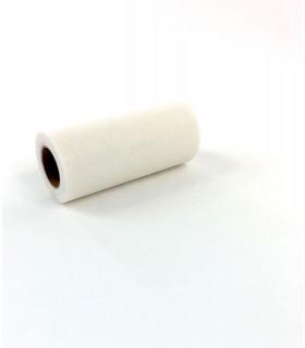 Ruban Large Tulle en rouleau 15cm x 23m Blanc Pailleté