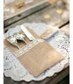 Grand Napperon rond 21cm DIY, mariage Blanc 20 pcs
