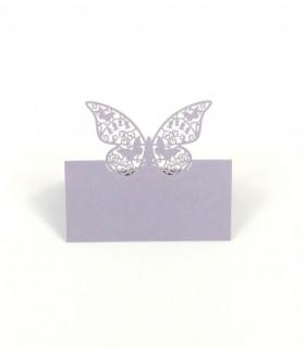 Marque Place table de fête modèle grand papillon Parme 20 pcs