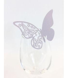 Marque Place table de fête sur verre papillon Parme 20 pcs