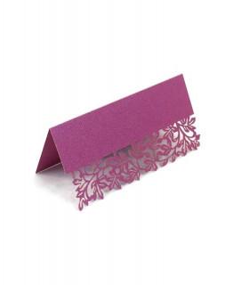 Marque Place table de fête motif floral Fuchsia Nacré 20 pcs